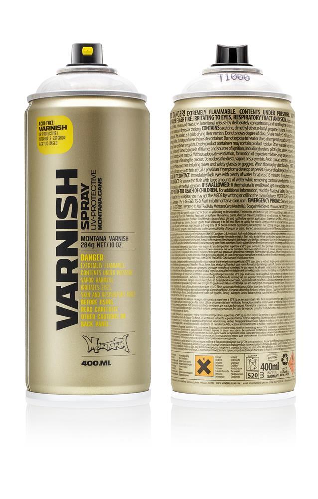 Montana Varnish Klarlack 400ml - T1000 - Gloss Farbe: gloss