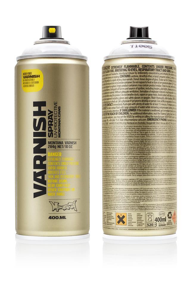 Montana Varnish Klarlack 400ml - T1005 - Semi Gloss Farbe: semigloss