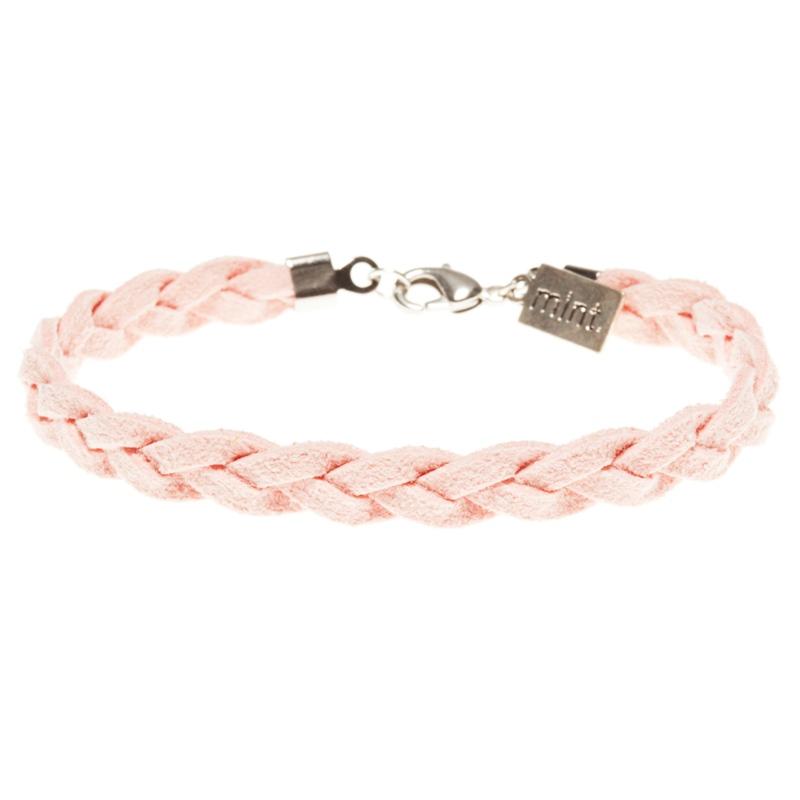 Mint Armband Suede Braided Bracelet Farbe: SilverLiPi