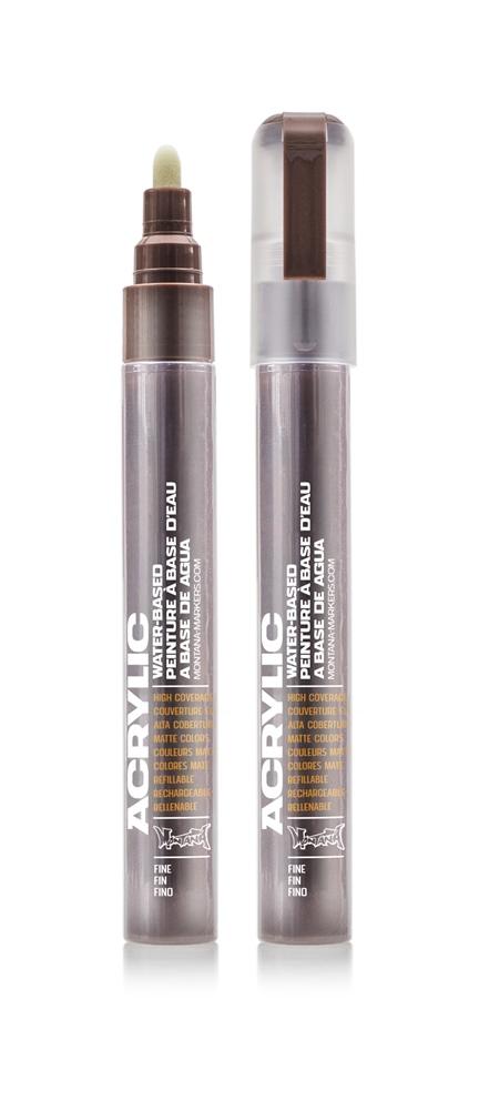 Montana ACRYLIC Marker 2mm Fine - SH8010 Brown Farbe: Shock Brow Breite: 2mm