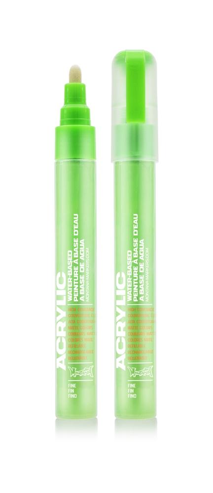 Montana ACRYLIC  Marker 2mm Fine - F6000 Acid Green Farbe: Acid Green Breite: 2mm