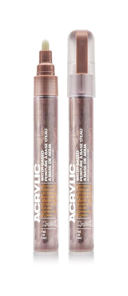 Montana ACRYLIC Marker 2mm Fine M Copper M.