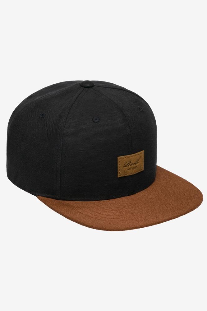 Reell Snapback Cap Suede 6 Panel Cap black Größe: Onesize Farbe: Black