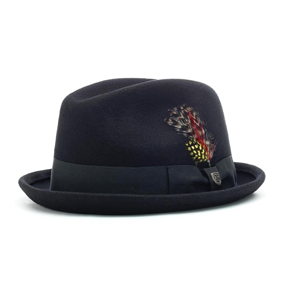 Brixton Gain Fedora  black Größe: S Farbe: Black