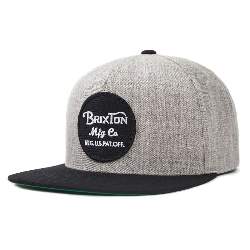 Brixton Wheeler - light heather grey black Größe: Onesize Farbe: LghtHthGrB
