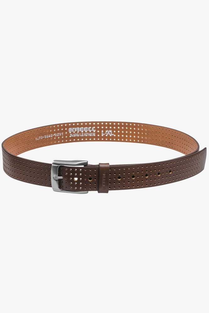 Reell Punched Belt - brown Größe: L/XL Farbe: Brown