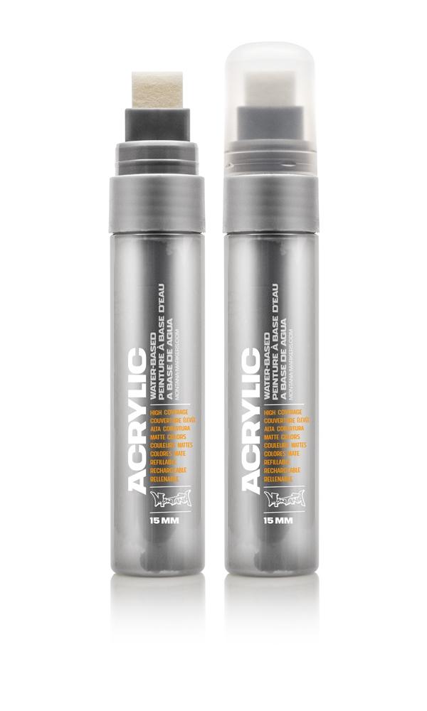 Montana ACRYLIC  Marker 15mm Standard – 7060  Gravel Silber: Gravel Breite: 15mm
