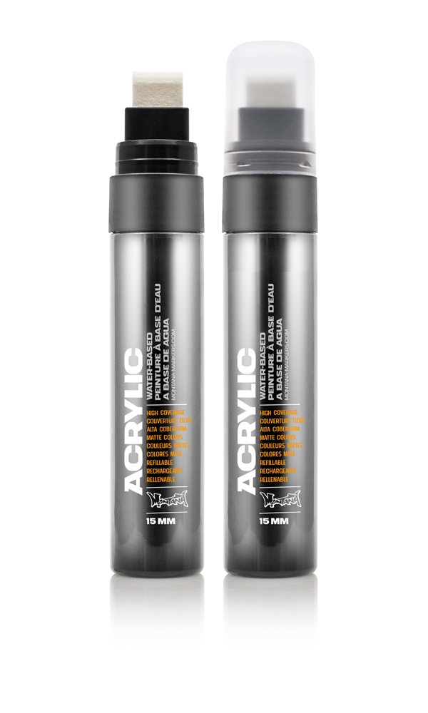 Montana ACRYLIC  Marker 15mm Standard - S9000 Shock Black Farbe: Shock Blac Breite: 15mm