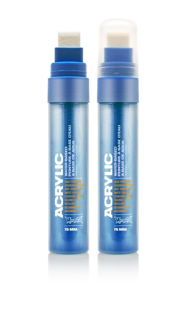 Montana ACRYLIC  Marker 15mm Standard – S5010 Shock Blue Blau: Shock Blue Breite: 15mm