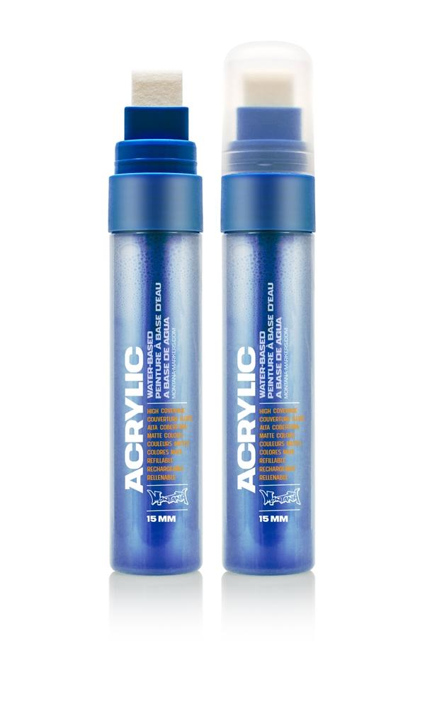 Montana ACRYLIC  Marker 15mm Standard – S5020 Shock Blue Dark Blau: Shock Blue Breite: 15mm