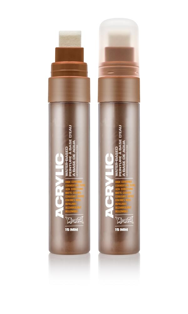 Montana ACRYLIC  Marker 15mm Standard - S8010 Shock Brown Farbe: Shock Brow Breite: 15mm