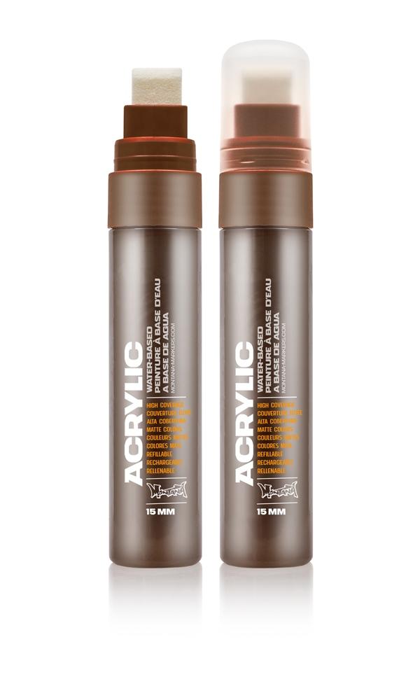 Montana ACRYLIC  Marker 15mm Standard – S8020 Shock Brown Dark Braun: Shock Brow Breite: 15mm