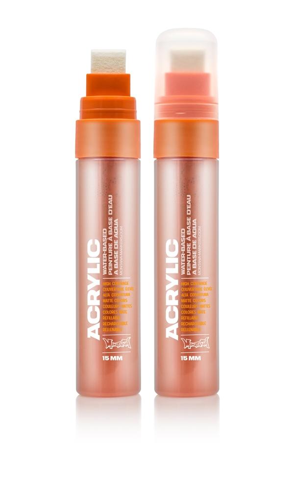 Montana ACRYLIC  Marker 15mm Standard – S2010 Shock Orange Orange: Shock Oran Breite: 15mm