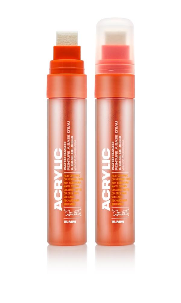 Montana ACRYLIC  Marker 15mm Standard – S2020 Shock Orange Dark Orange: Shock Oran Breite: 15mm
