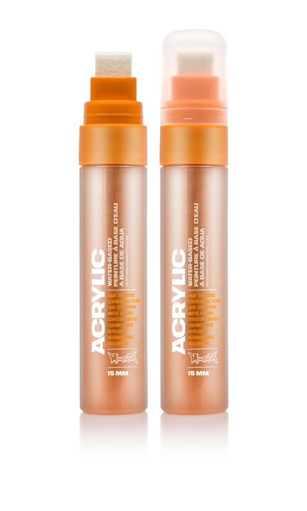 Montana ACRYLIC  Marker 15mm Standard – S2000 Shock Orange Light Orange: Shock Oran Breite: 15mm