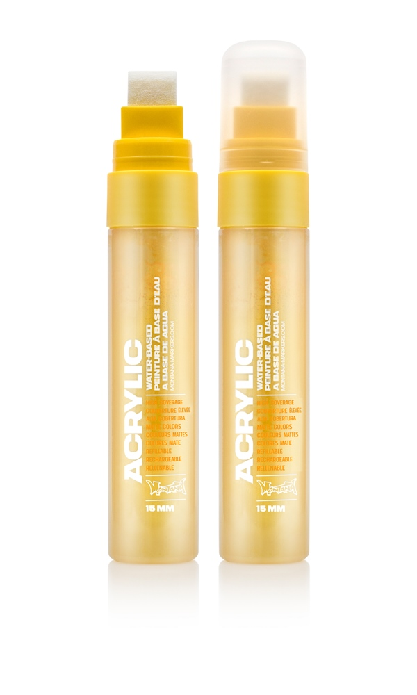 Montana ACRYLIC  Marker 15mm Standard - S1000 Shock Yellow Light Farbe: Shock Yell Breite: 15mm