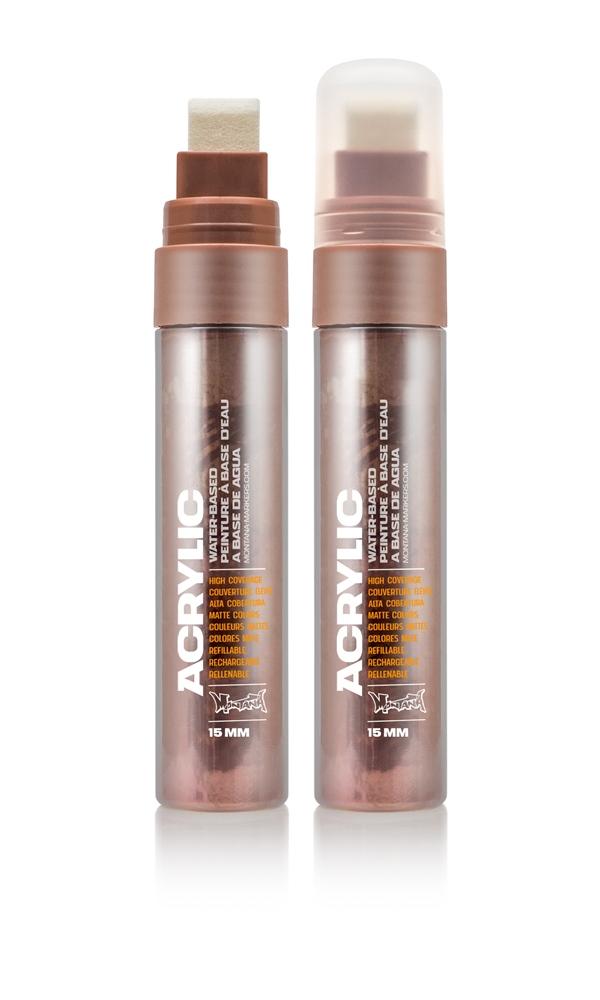 Montana ACRYLIC  Marker 15mm Standard - M2000 Copperchrome Farbe: Copperchro Breite: 15mm