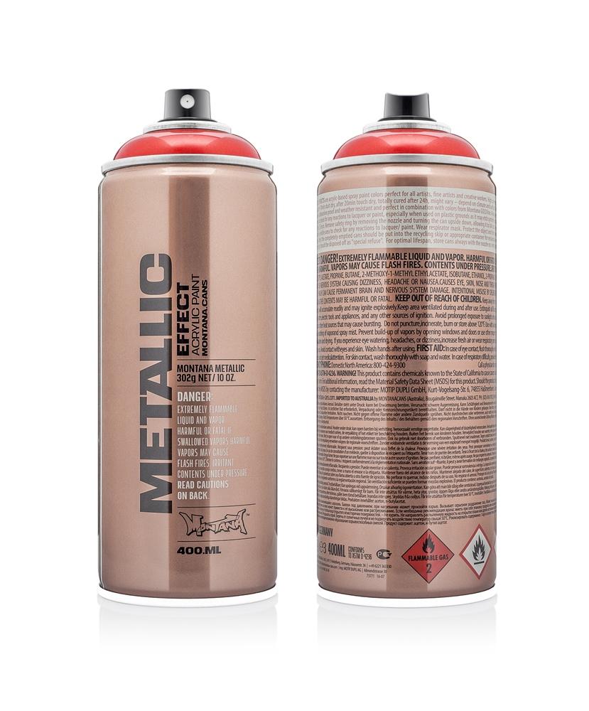 Montana Matallic  400ml - EMC3020 - Red Farbe: Red