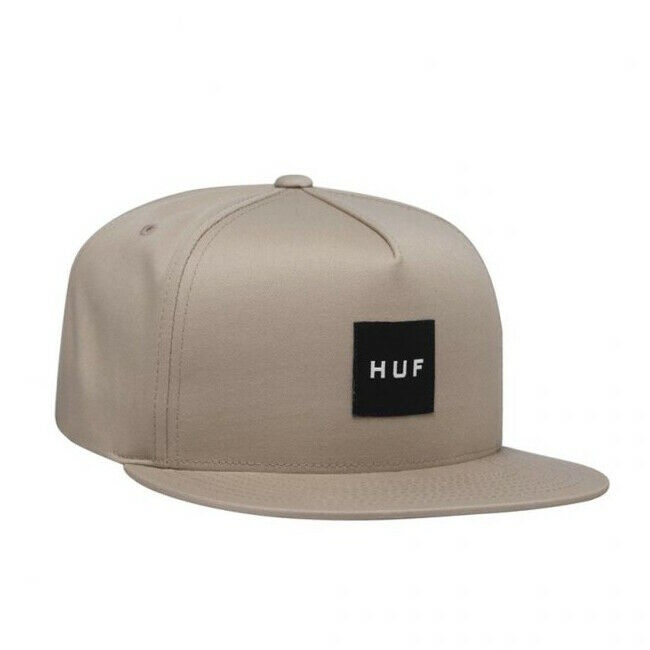 Huf Snapback Cap Essentials Box Logo elmwood Größe: Onesize Braun: elmwood