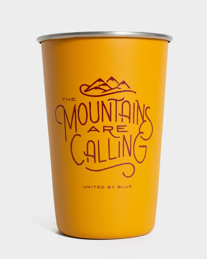 United By Blue Mountains Are Calling 16OZ / 473ml - gold Menge: 16OZ 473ml Gelb: gold