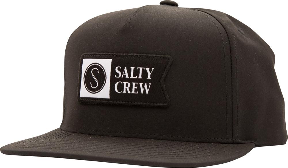 Salty Crew Alpha Tech 5 Panel - black Größe: Onesize Schwarz: black