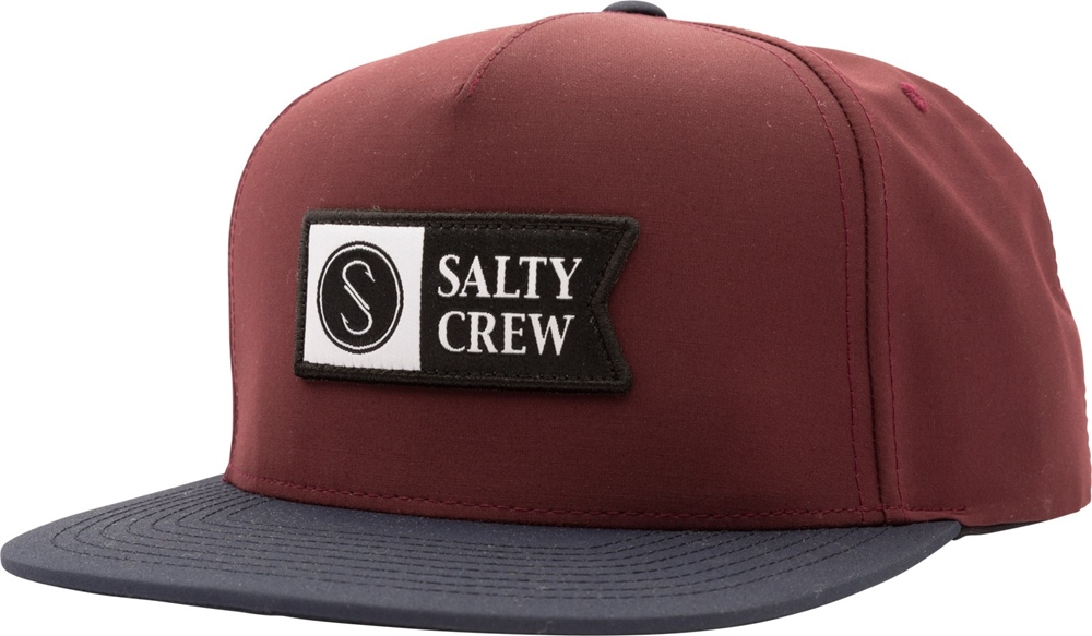 Salty Crew Alpha Tech 5 Panel - burgundy navy Größe: Onesize Rot: burgundyna