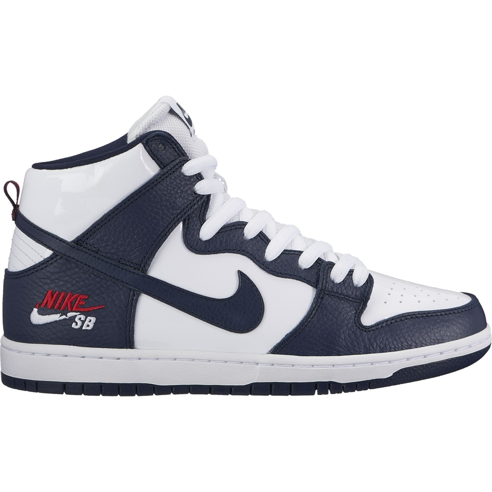 Nike SB Dunk High Pro - obsidian/white/red Größe: 10 Farbe: ObsdnWht