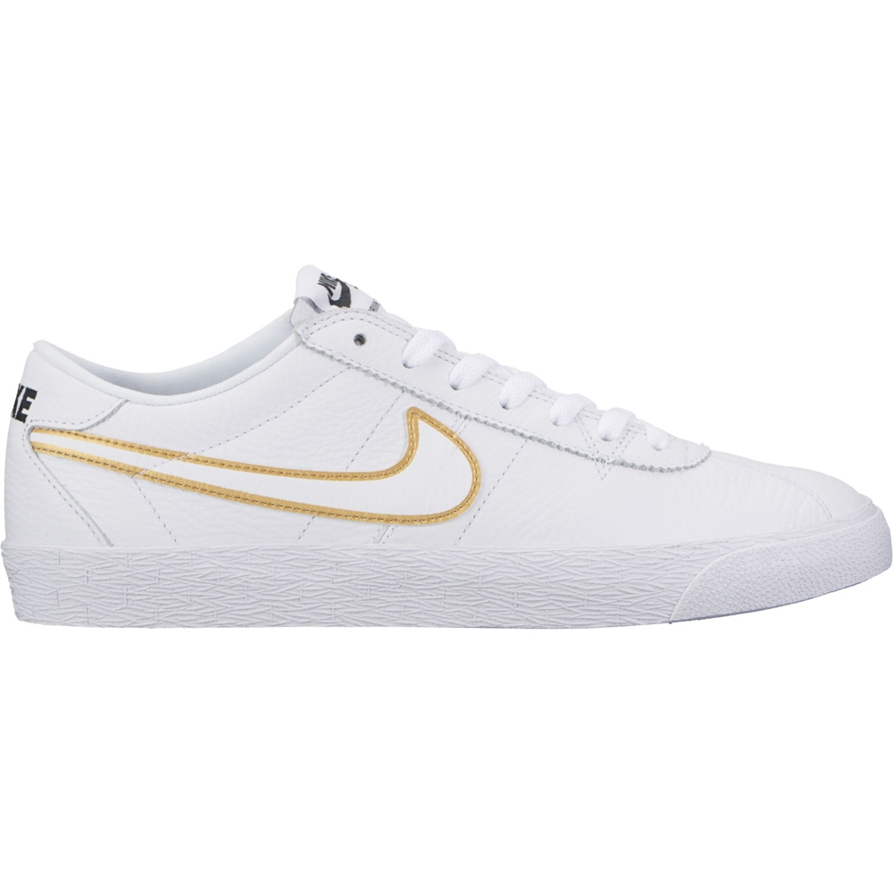 Zanahoria Cinco Profeta  Nike SB Bruin Premium - white/gold - Men's skate shoe low in Weiss | buy  online - HiLight webshop