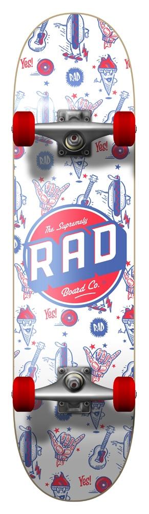 Rad Board Wallpaper 7.75 Größe: 7.75 Weiss: white