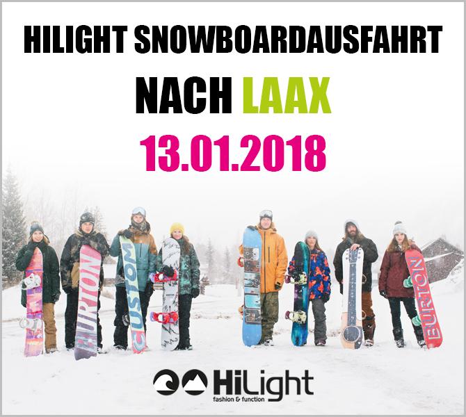 Snowboardausfahrt Laax - 13.01.2018