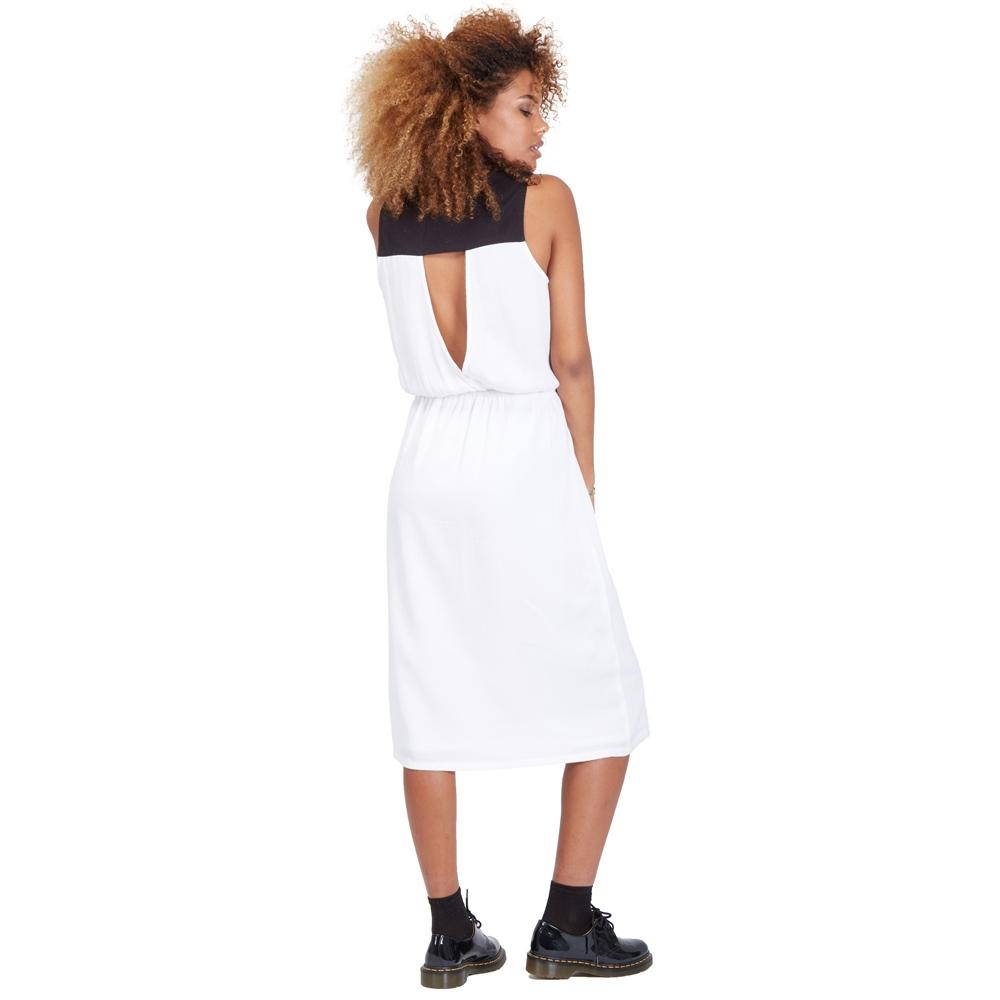 Volcom Get In Line Dress - white Größe: L Farbe: White