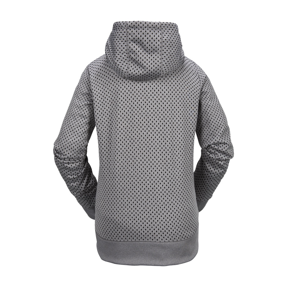 Volcom Stone Dot Fleece - heather grey Größe: L Farbe: HEATHER_GR