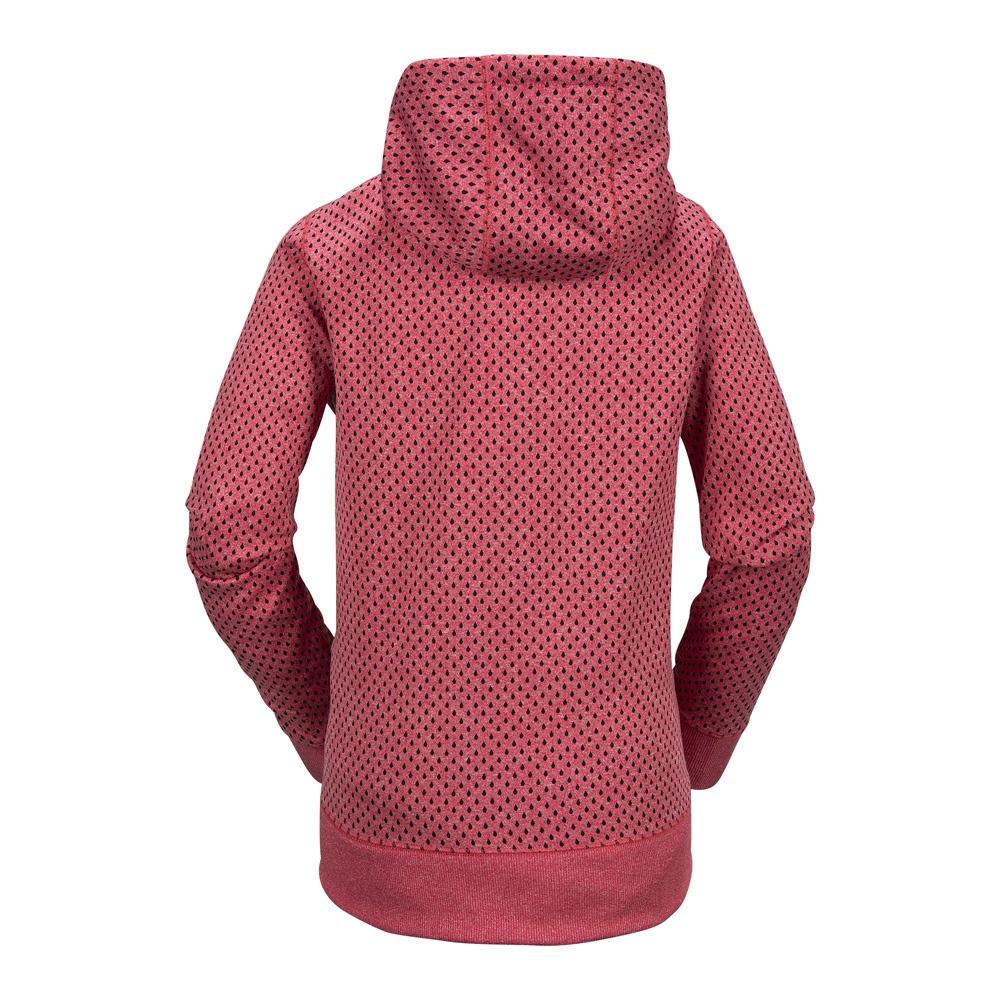 Volcom Stone Dot Fleece - bright rose Größe: S Farbe: BRIGHT_ROS