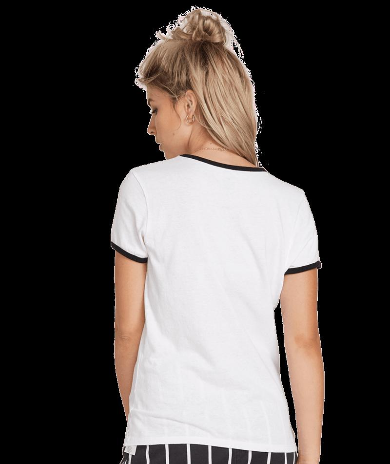 Volcom Keep Goin Ringer - white Größe: S Farbe: white