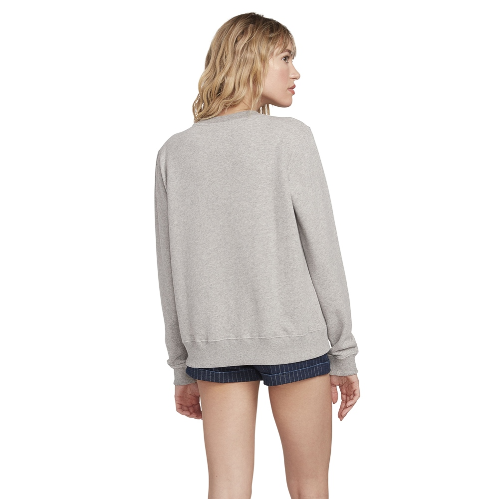 Volcom Sound Check Fleece - heather grey Größe: L Farbe: heathergre