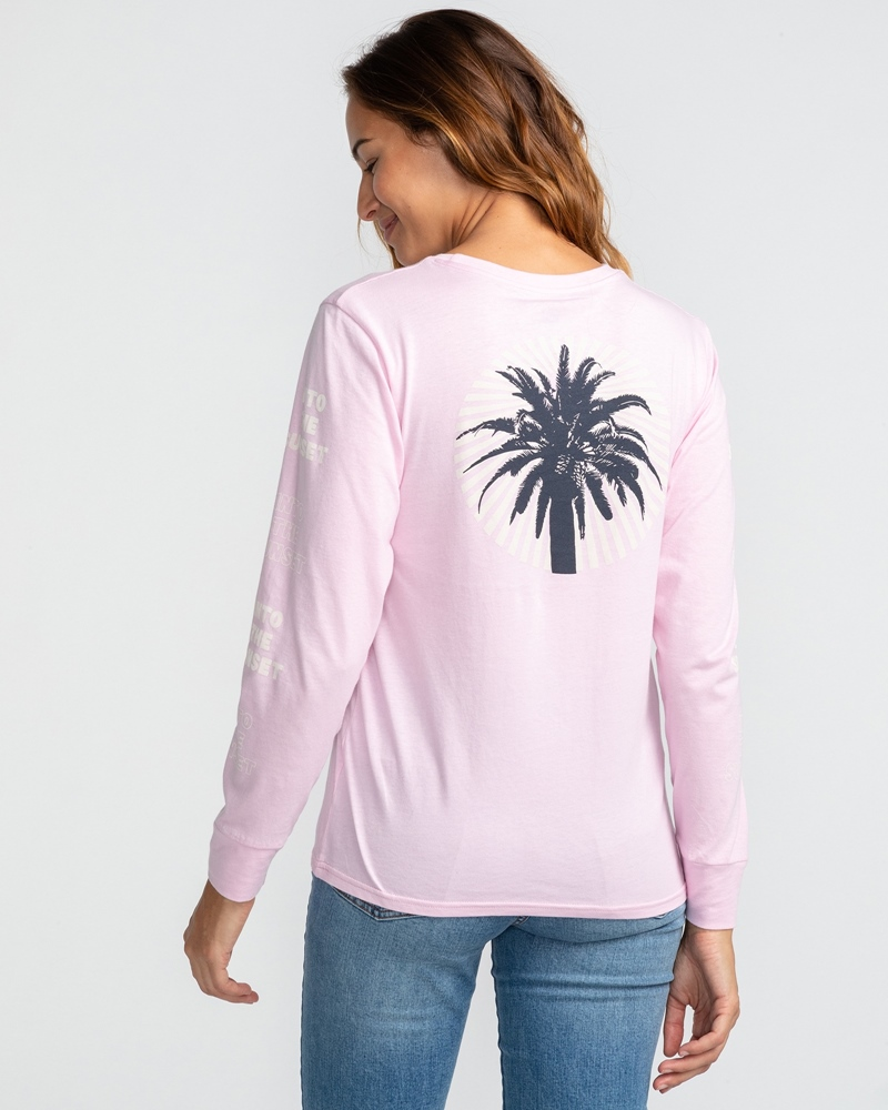 Billabong wms Longsleeve Far Out Logo rose dawn Größe: M Pink: rosedawn