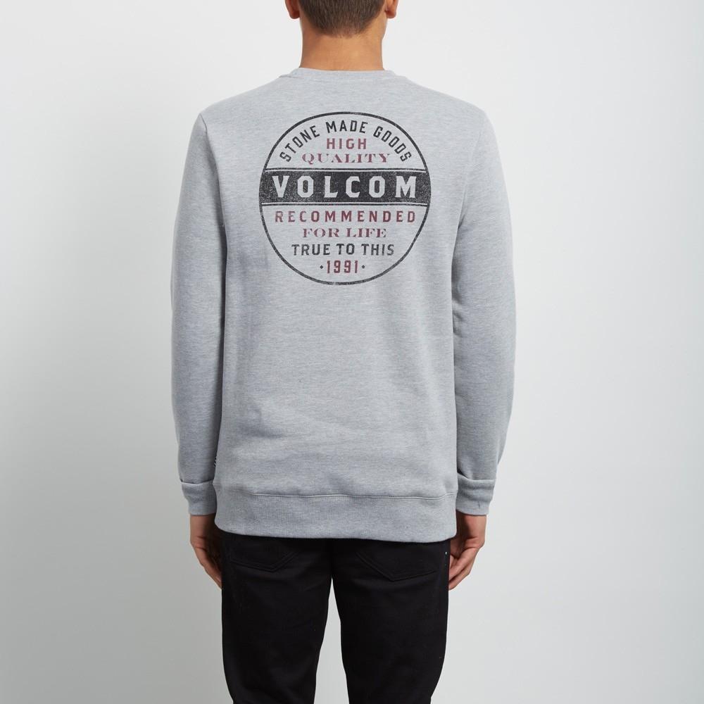 Volcom Supply Stone Crew - grey Größe: XS Farbe: grey