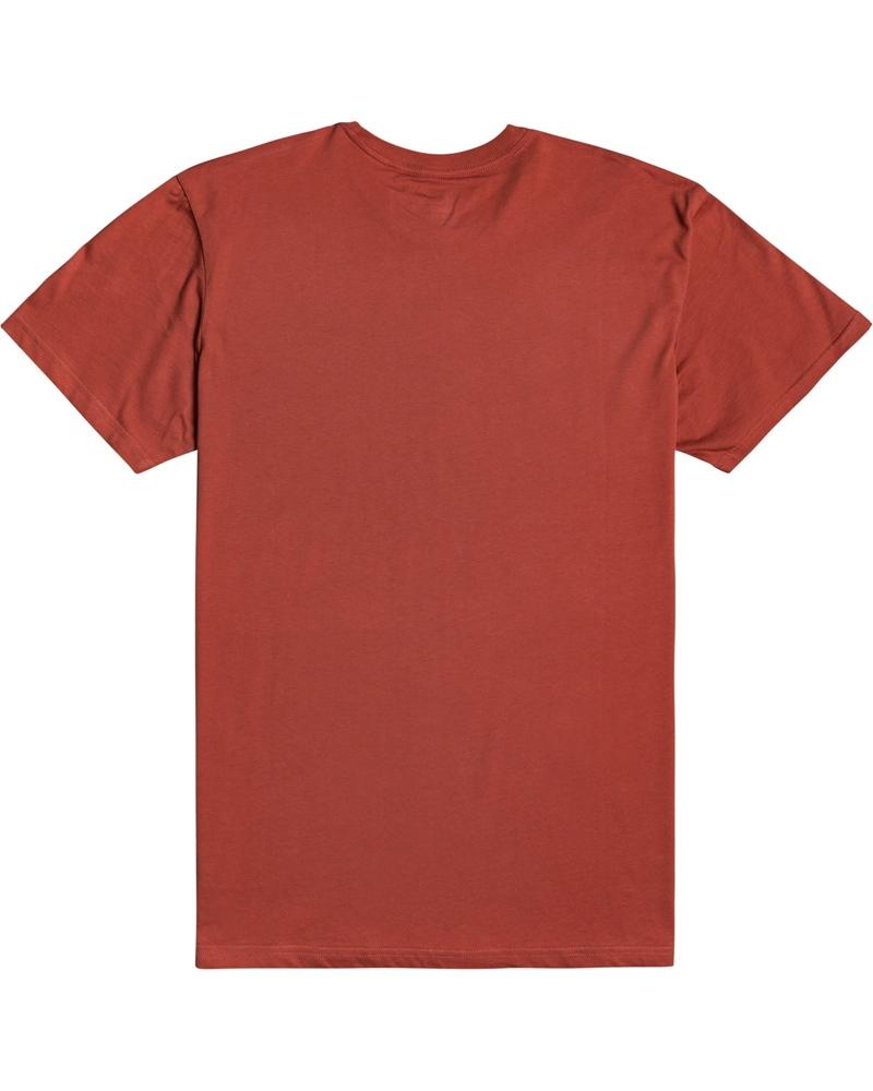 Billabong mns T-Shirt Trademark deep red Größe: S Rot: deepred