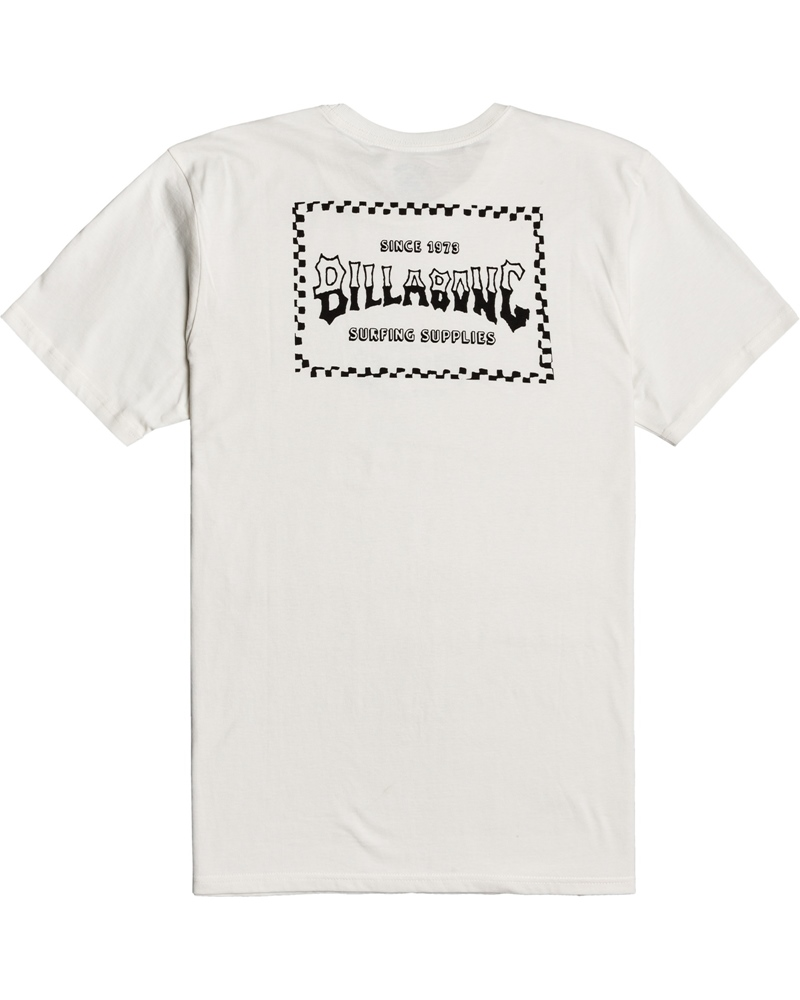 Billabong mns T-Shirt Supply Wave off white Größe: S Weiss: offwhite