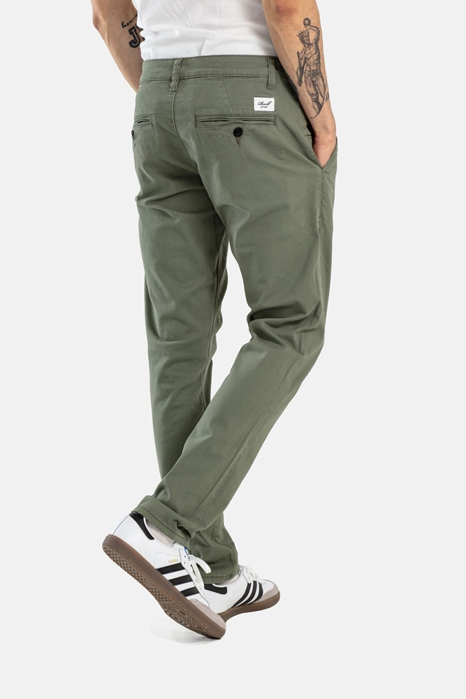 Reell Flex Tapered Chino - light olive Größe: 30/32 Grün: lightolive