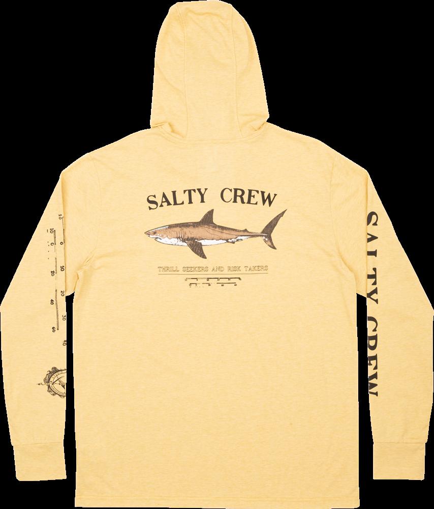 Salty Crew Bruce Hood Tech Tee - kelp Größe: S Gelb: kelp