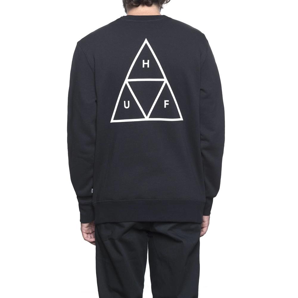 Huf Essentials Triple Triangle - black Größe: L Schwarz: black