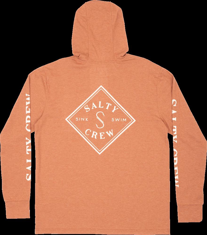 Salty Crew Tippet Pocket Hood - clay Größe: S Orange: clay