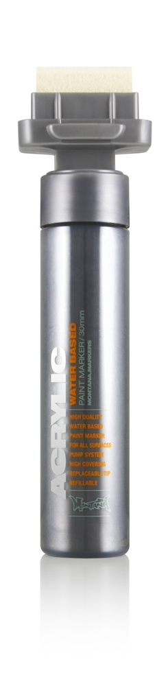 Montana ACRYLIC Marker 30mm BROAD - M1100 Outline Silver Farbe: Outline Si Breite: 30mm