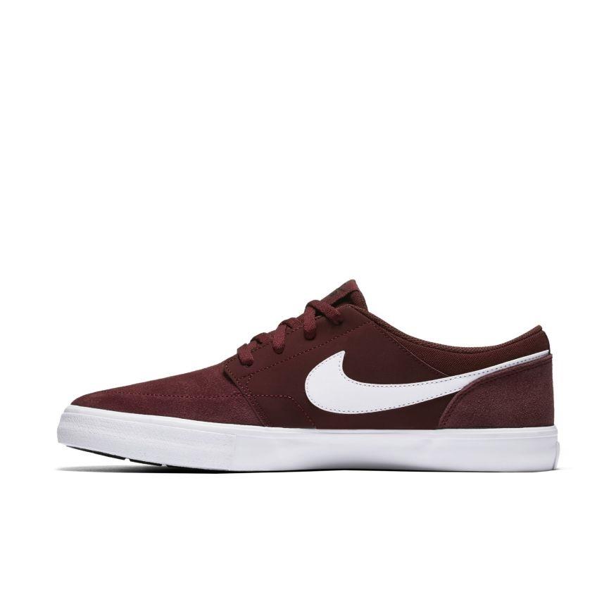 Nike SB Portmore II - dark red Größe: 9 Farbe: DkTeamRed