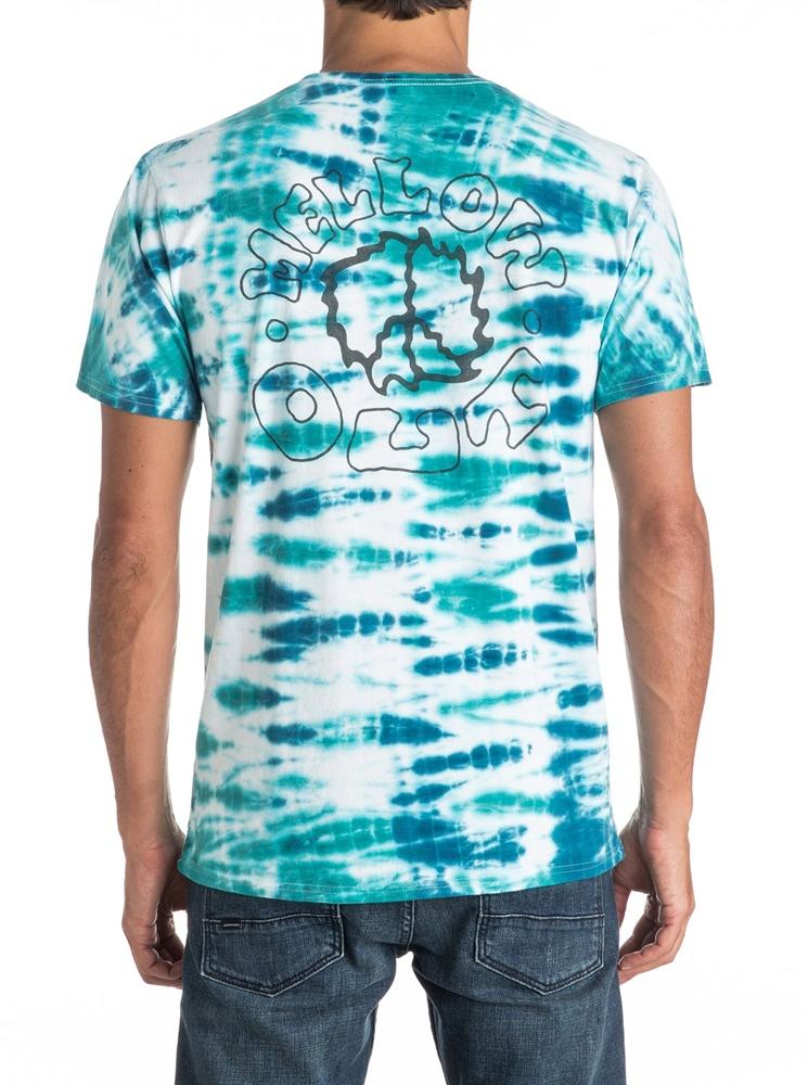 Quiksilver Mellow Out Tie Dye T-Shirt - white Größe: M Farbe: White