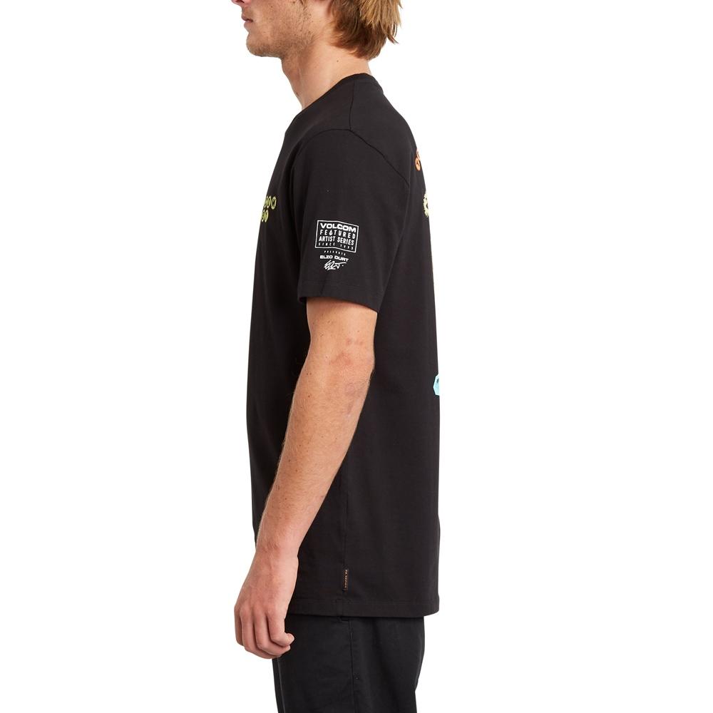 Volcom mns T-Shirt Elzo Durt FA BLK Größe: S Schwarz: black