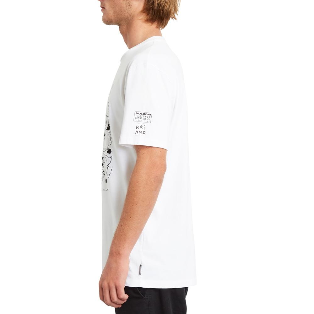 Volcom mns T-Shirt Briand FA WHT Größe: S Weiss: white