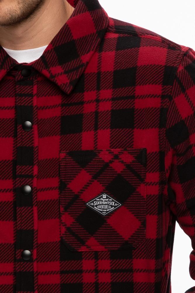 686 Sierra Fleece Flannel - oxblood plaid Größe: S Farbe: oxbloodpla