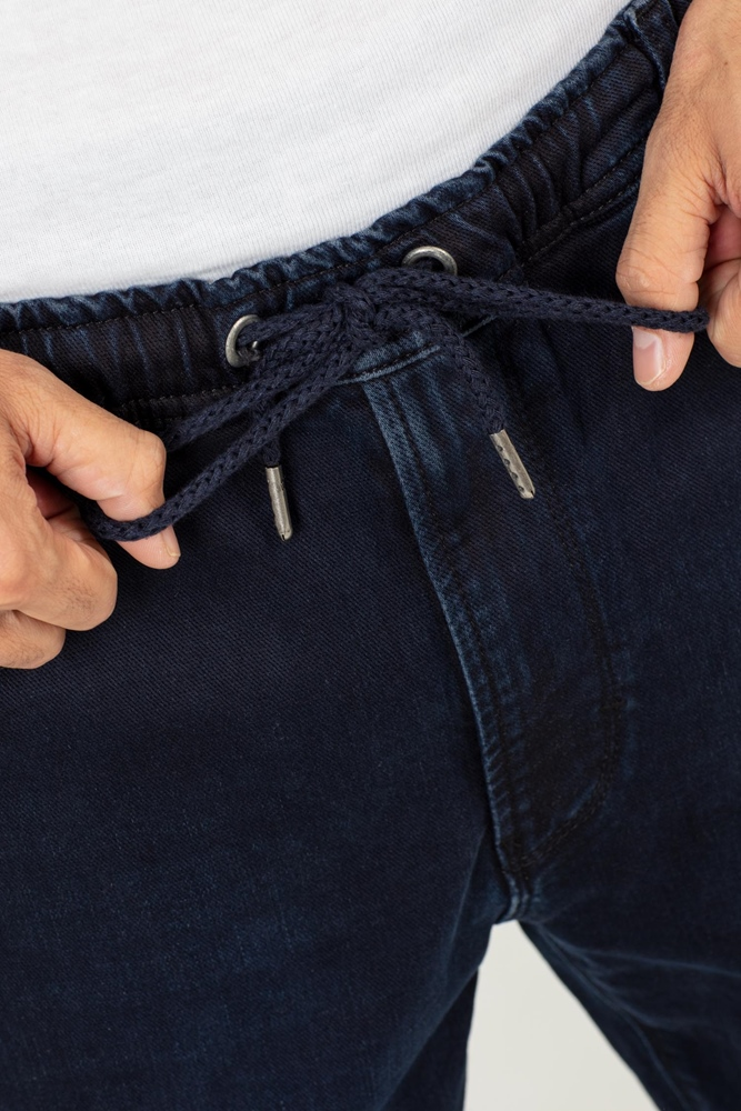 Reell Jogger Jeans - knitted blue black Größe: M Blau: knittedblu